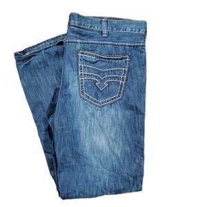 Helix straight leg jeans men's size 38x33